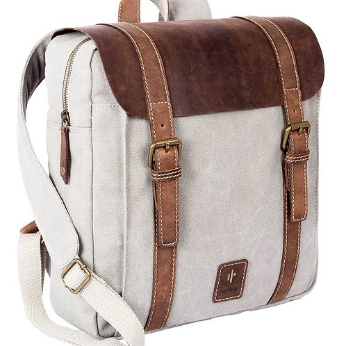 Cactus leather Flap Back Pack - Grey