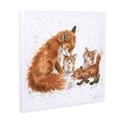 Foxes Wrendale Canvas Print