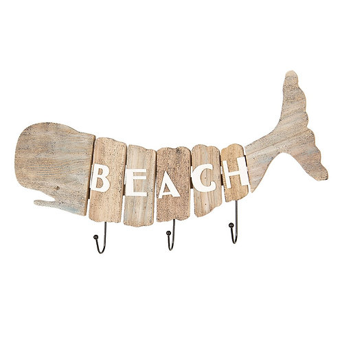 Whale Beach Wooden Wall Hooks