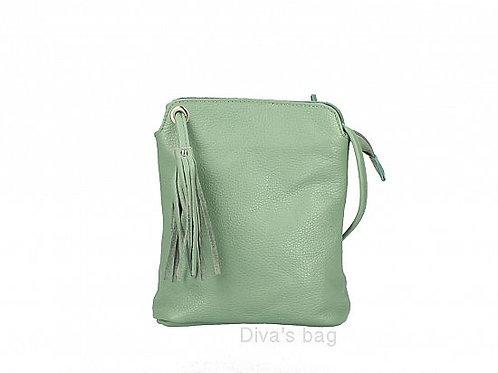 Mint Tassel Small Crossbody Bag - Italian Leather