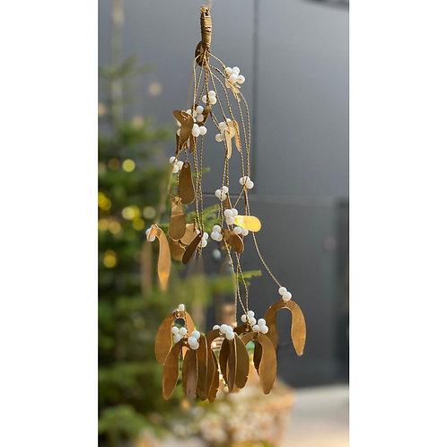 Brass Mistletoe Sprig