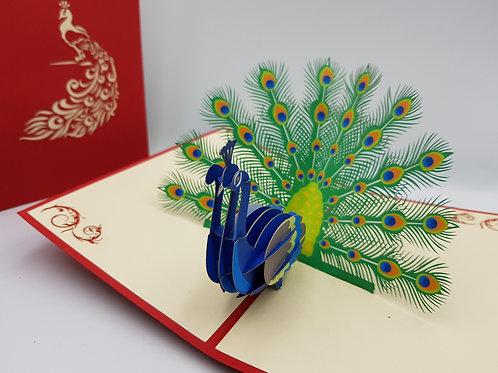 Pop Up Card - Peacock
