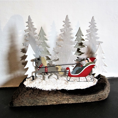 Driftwood Christmas Sled