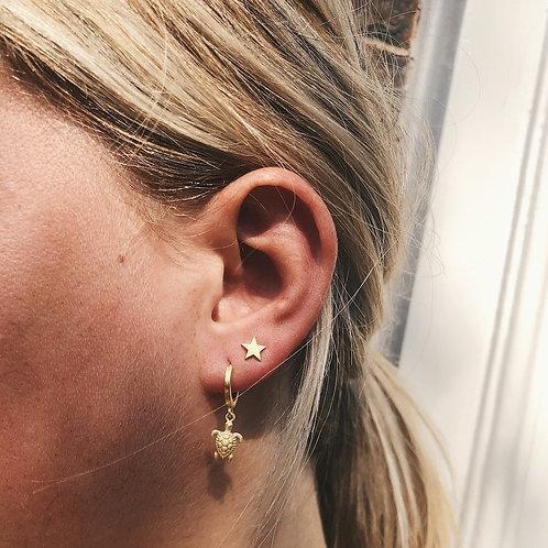 Star Stud Earrings 14k Gold Plated Sterling Silver