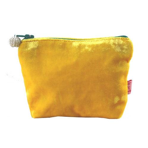 Mini Velvet Purse -Yellow