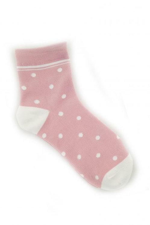 Spot Cotton Blend Ankle Sock - Pink