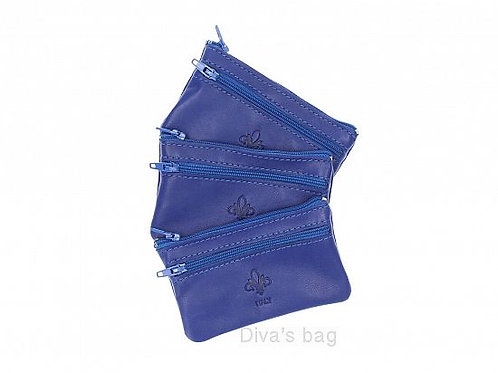 Leather Coin Purse - Royal Blue