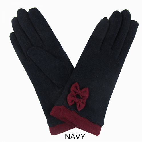 Super Cosy Lined Wool Gloves -Navy