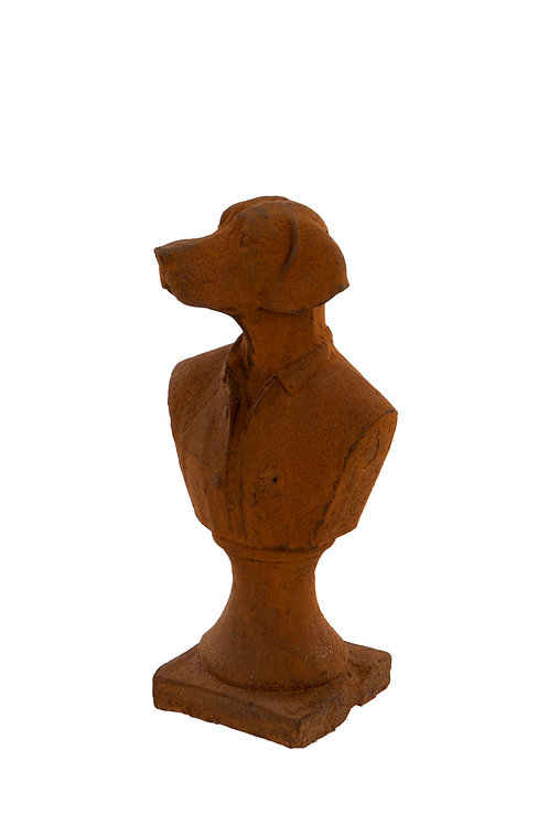 Cast Iron Dog Bust  IN STORE ONLY