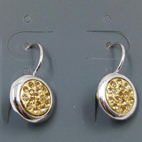 Mosaic style disc drop earrings