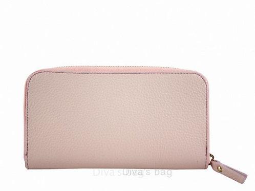 Dusty Pink - Italian Leather Purse/ Wallet