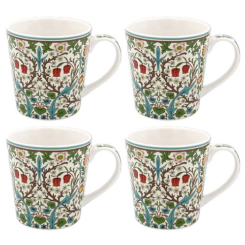 Blackthorn Mugs set of 4- William Morris