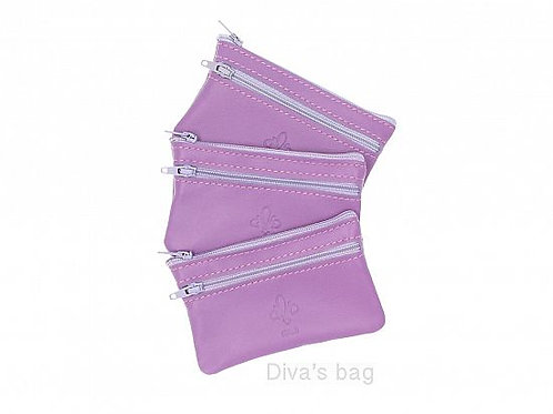 Leather Coin Purse - Lilac