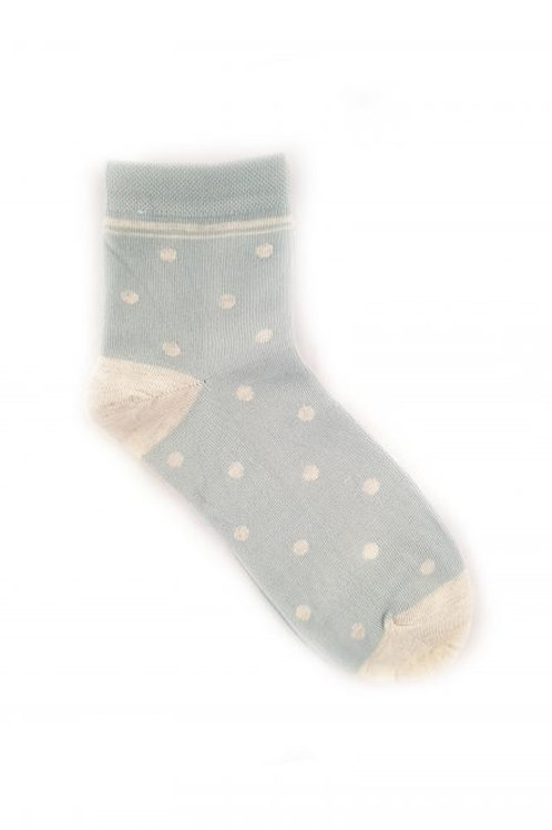 Spot Cotton Blend Ankle Sock - Grey