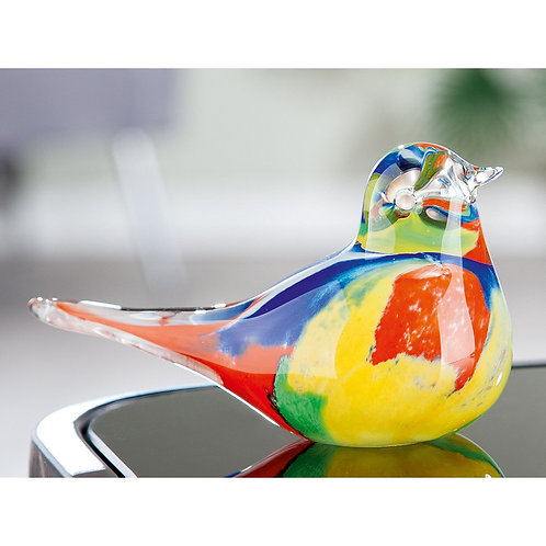 Multi Coloured Glass Bird