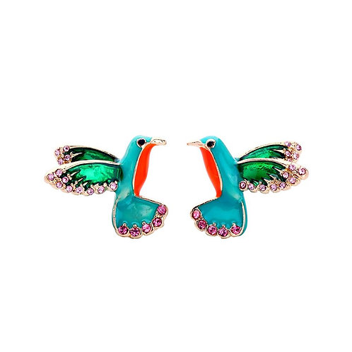 Tropical Bird Stud Earrings