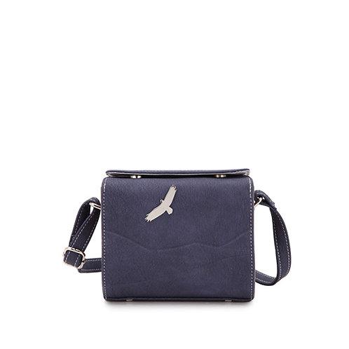 Blue Structured Crossbody Bag