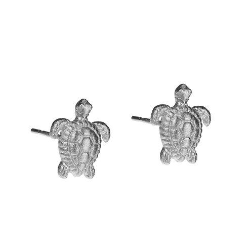 Turtle Stud Earrings Sterling Silver
