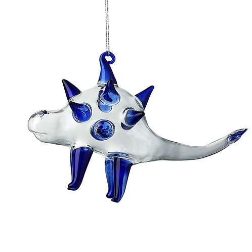 Glass Hanging Dinasaur -Blue