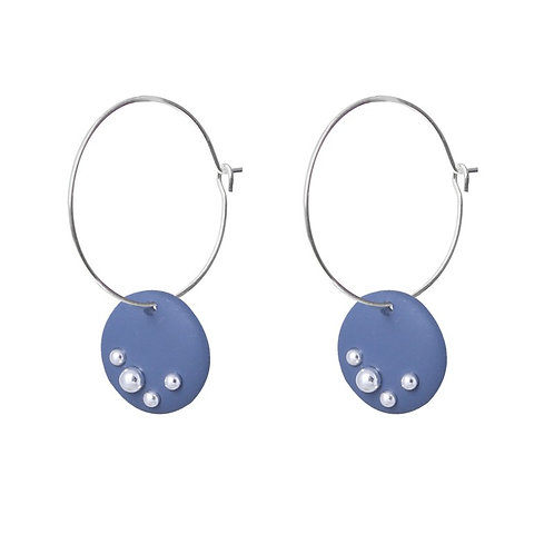 Simple Hoop with Colour Disk - Blue