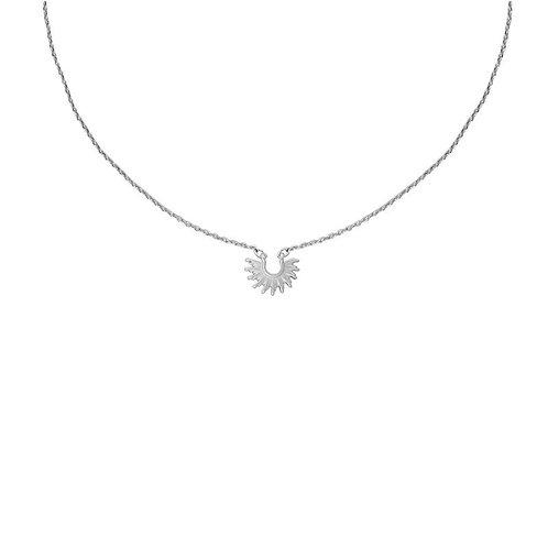 Matt silver plated sunshine delicate pendant