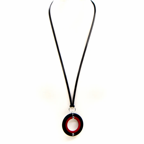 Resin pendant long necklace