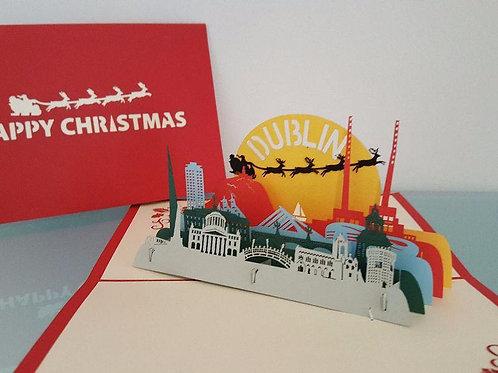 Merry Christmas Dublin Pop Up Card
