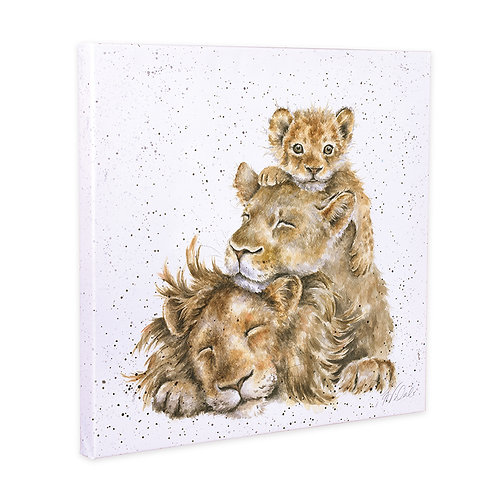 Pride of Lions Wrendale Canvas Print