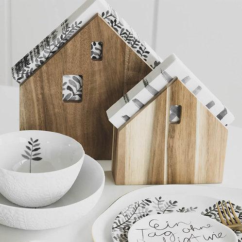 Wooden House Napkin Holder