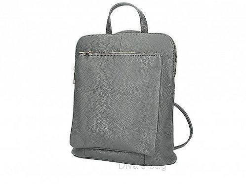 Dark Grey Slim Backpack with Large Front Pocket