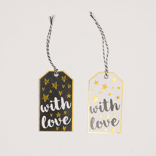 Set of 6 with Love Gift Tags