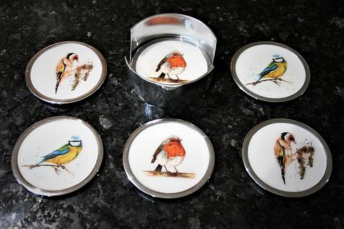 Garden Bird Coasters Set of 6