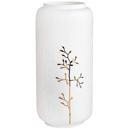 Gold Branch White Porcelain Vase