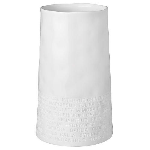Wide Poetry White Porcelain Vase
