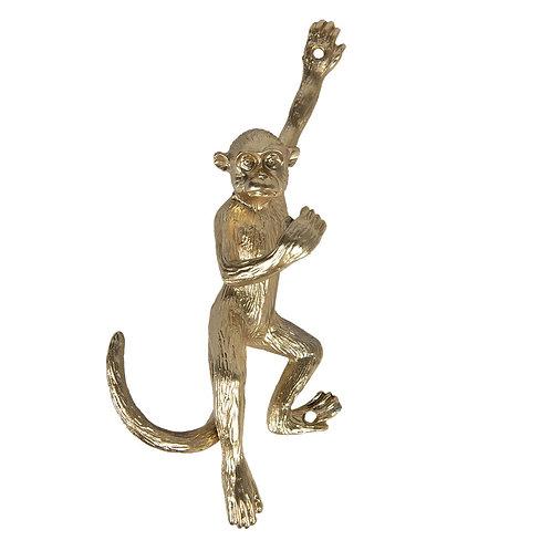 Gold Hanging Monkey Iron Wall Hook