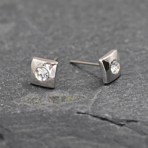 Mini Stud Earring with Crystal