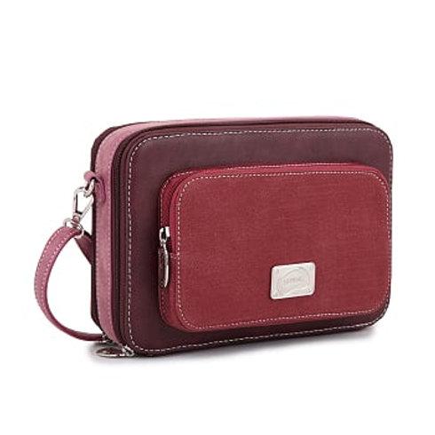Purple & Burgundy Box Shoulder Bag