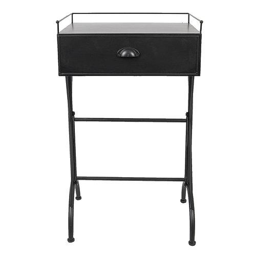 Stylish Black Metal Bedside Locker or Side Table