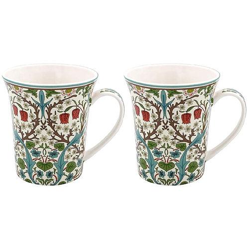 Blackthorn Mugs set of 2- William Morris