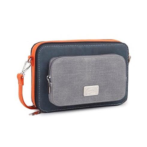 Blue & Orange Box Shoulder Bag