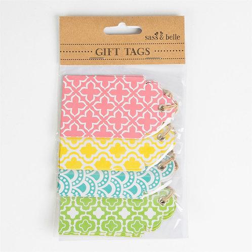 Set of 12 Moroccan Geometrics Gift Tags