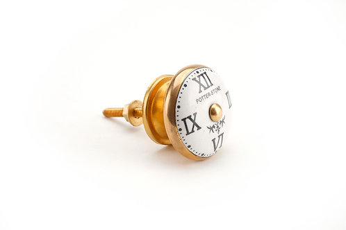 Brass Clock Face Drawer Pull