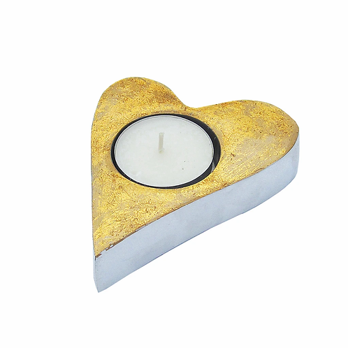 Heart Tealight - Gold