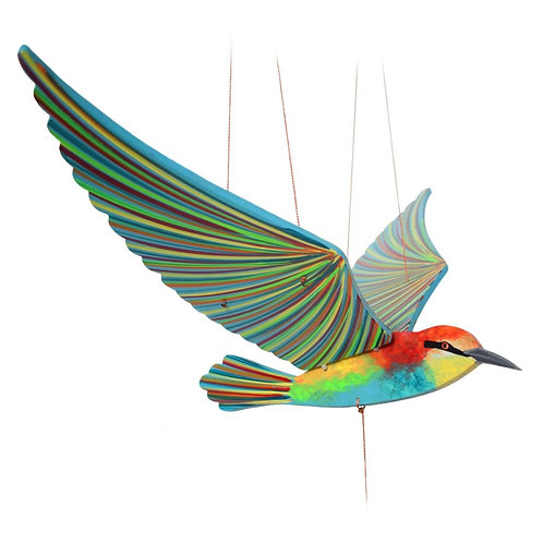 Bee Eater Bird- Handcrafted flying mobile - Fair Trade