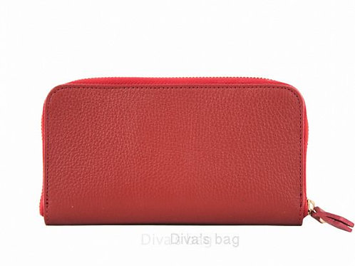 Red - Italian Leather Purse/ Wallet