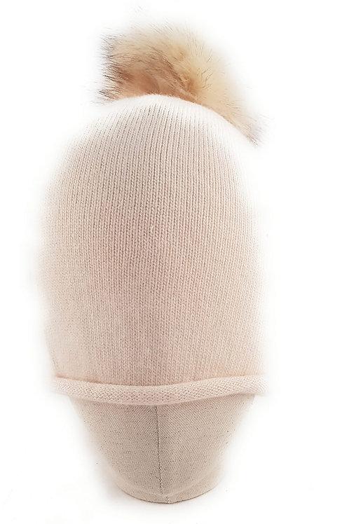 Cashmere blend bobble hat - Cream