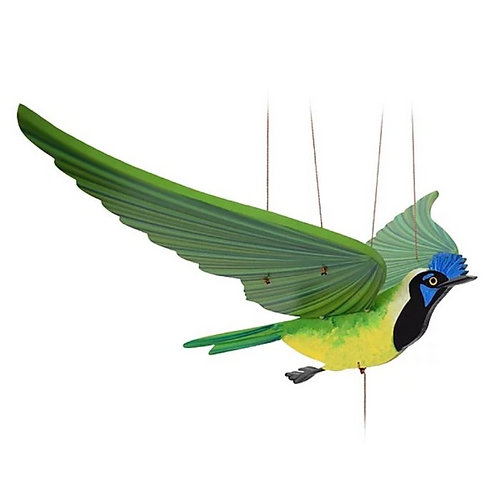 Green Jay - Handcrafted flying mobile - Fair Trade
