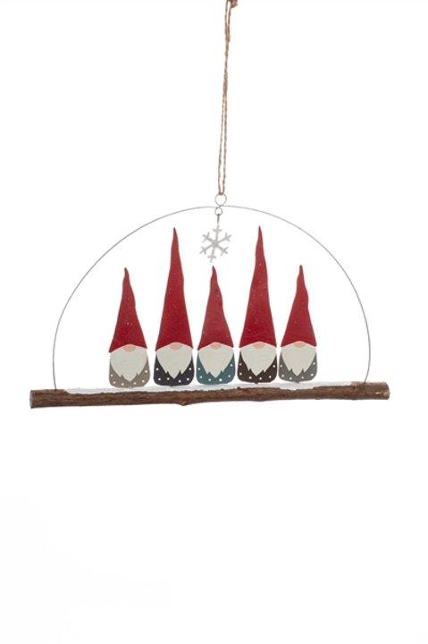 Five Christmas Gnome Hanger