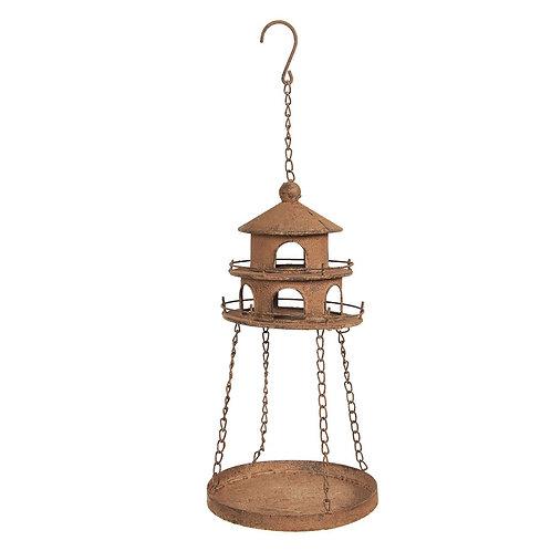 Lighthouse Hanging Iron Bird Feeder or Plant Holder
