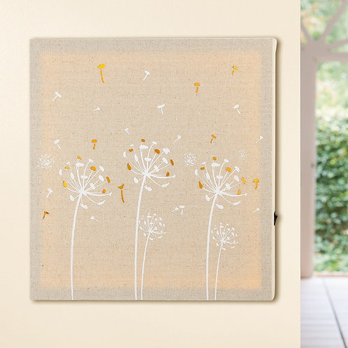 LED Dandelion Textured Wall Art
